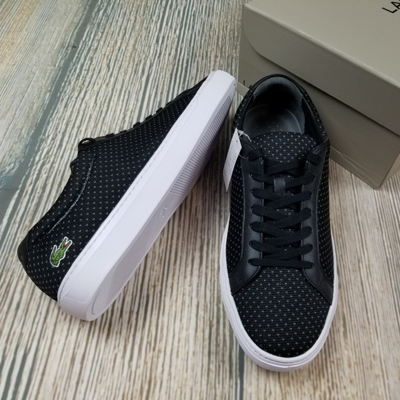 a698fbf0d New LACOSTE textured lace up sneakers